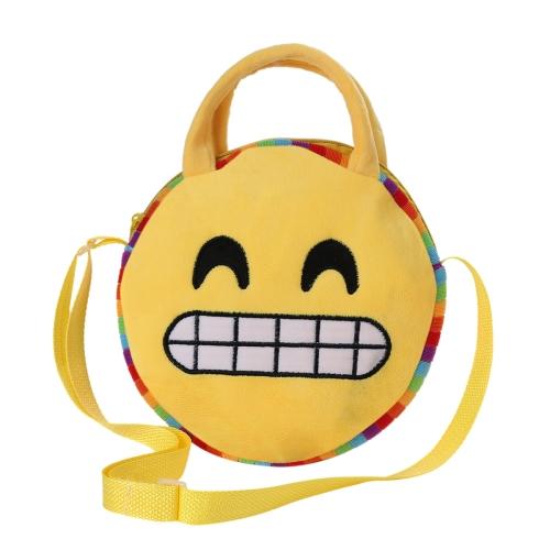 Cute Emoji Face Plush Backpack Emoticon Shoulder Bag Schoolbag Children Villus Toy Satchel Rucksack Crossbody Handbag for Kids GirToys &amp; Hobbies<br>Cute Emoji Face Plush Backpack Emoticon Shoulder Bag Schoolbag Children Villus Toy Satchel Rucksack Crossbody Handbag for Kids Gir<br>