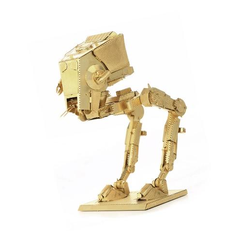 3D Puzzles AT-ST Golden 3D Metal Jigsaw Model Kit DIY Star War Gift Model Educational ToysToys &amp; Hobbies<br>3D Puzzles AT-ST Golden 3D Metal Jigsaw Model Kit DIY Star War Gift Model Educational Toys<br>