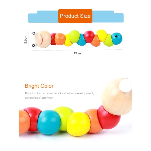 Colorful Twist Caterpillars Baby Children Fingers Flexibility Training Twisting Worm Educational Wooden ToysToys &amp; Hobbies<br>Colorful Twist Caterpillars Baby Children Fingers Flexibility Training Twisting Worm Educational Wooden Toys<br>
