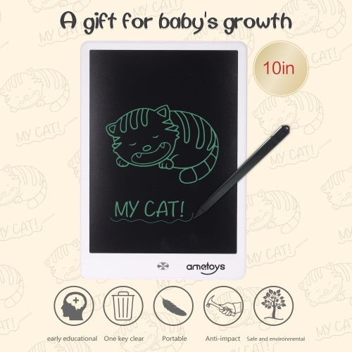 Ametoys 10-Inch LCD Writing Tablet Drawing - WhiteToys &amp; Hobbies<br>Ametoys 10-Inch LCD Writing Tablet Drawing - White<br>