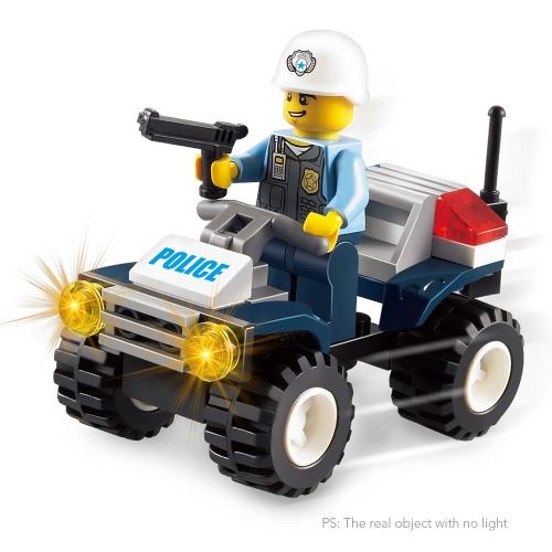 2 مجموعات زيبو سيارة سلسلة 42 قطع XP93504 الشرطة الجنائية و 38 قطع XP93505 الأمن دورية اللبنات التعليمية اللعب