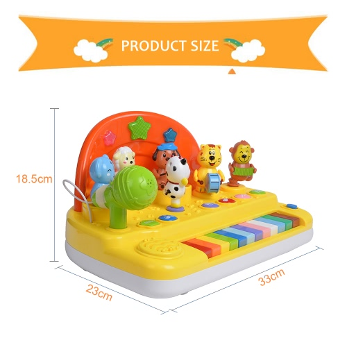 GOODWAY 8629 Happy Stage Piano Musical Instrument Animal Toy Early Educational Toys Baby Kids GiftToys &amp; Hobbies<br>GOODWAY 8629 Happy Stage Piano Musical Instrument Animal Toy Early Educational Toys Baby Kids Gift<br>