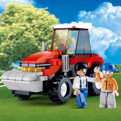 سلوبان M38-B0556 103 قطع مدينة جرار بنة البناء لعبة للأطفال