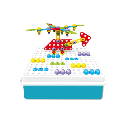 193Pcs Pile Up Mushroom Nails Jigsaw Pegboard Creative Puzzle Electric Drill Educational Toys for KidsToys &amp; Hobbies<br>193Pcs Pile Up Mushroom Nails Jigsaw Pegboard Creative Puzzle Electric Drill Educational Toys for Kids<br>