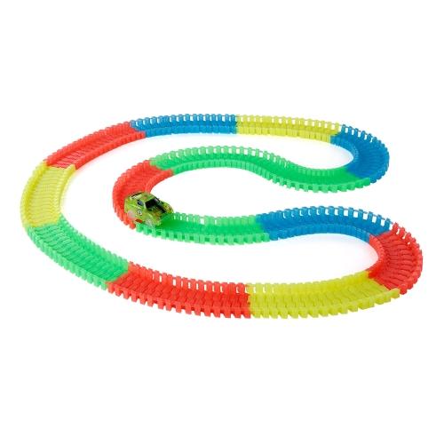 192PCS 45mm Twister Tracks Flexible Assembly Neon Glow in Darkness Race Track Blocks for KidsToys &amp; Hobbies<br>192PCS 45mm Twister Tracks Flexible Assembly Neon Glow in Darkness Race Track Blocks for Kids<br>