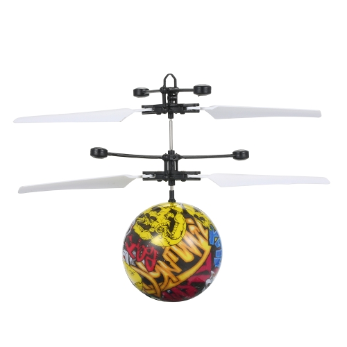 Levitated Luminous Flying Ball Intelligent Helicopter Infrared Induction Flash Flyball LED Light-Up Toys Kids Toy Gift Style 1