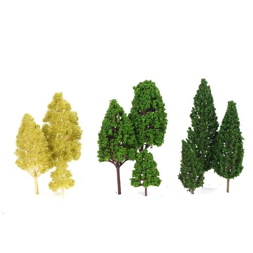 パック27個モデルツリー景色レイアウト鉄道ディオラマランドスケープ3-16cm 3タイプ