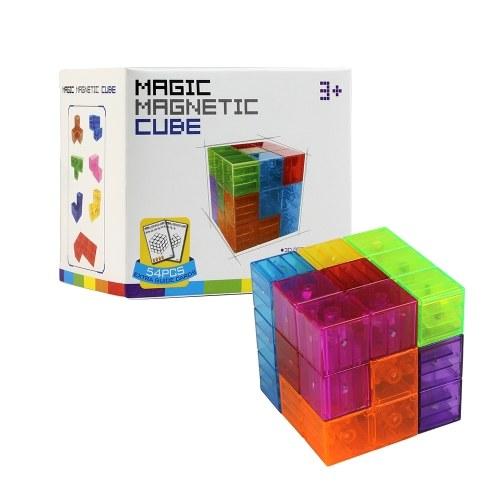 Magic Magnetic Cube 7pcs 54 Guard Cards 108 Shapes