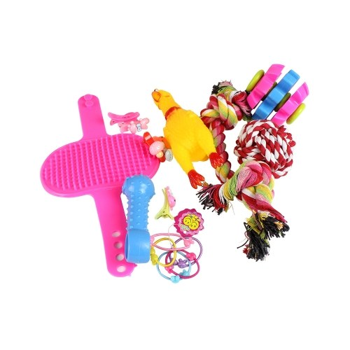 16pcs Dogs Grind Teeth Bite Interactive Playing Toys
