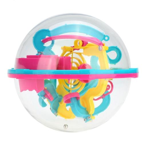 3D laberinto esférico intelecto bola equilibrio mágico Puzzle del juego con 100 barreras juguete educativo
