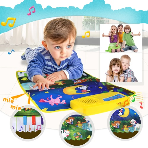 Music Play Mat Learn Singing Carpet Keyboard Piano Blanket Touch Play Sound Baby Early Education Kids GiftToys &amp; Hobbies<br>Music Play Mat Learn Singing Carpet Keyboard Piano Blanket Touch Play Sound Baby Early Education Kids Gift<br>
