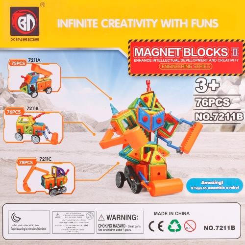 XINBIDA 7211B 76PCS Magnet Building Magnetic Blocks Construction Educational Toys for KidsToys &amp; Hobbies<br>XINBIDA 7211B 76PCS Magnet Building Magnetic Blocks Construction Educational Toys for Kids<br>