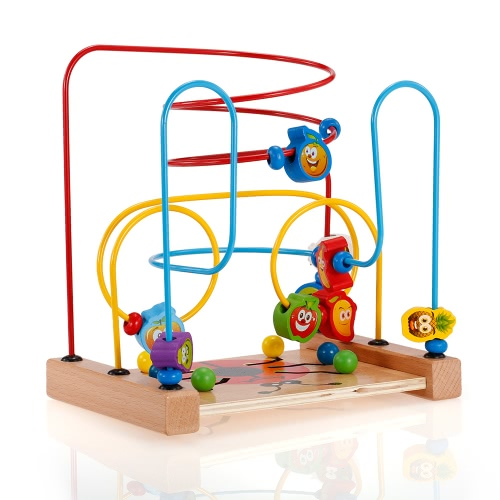 Multipurpose Classic Wooden Beads Game Beetle and Fruits Pattern Activity Cube Educational Wood Toys for KidsToys &amp; Hobbies<br>Multipurpose Classic Wooden Beads Game Beetle and Fruits Pattern Activity Cube Educational Wood Toys for Kids<br>