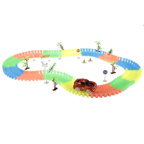 172PCS 55mm Twister Tracks Flexible Assembly Neon Glow in Darkness with Decal Tree Fire Cone Street Lamp Traffic Sign Track Race CToys &amp; Hobbies<br>172PCS 55mm Twister Tracks Flexible Assembly Neon Glow in Darkness with Decal Tree Fire Cone Street Lamp Traffic Sign Track Race C<br>