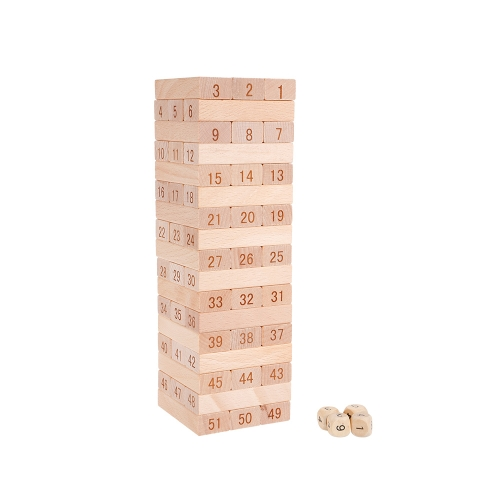 48Pcs Wooden Building Block Set Stacking Board Game Shape and Number Recognition Educational Toy for KidsToys &amp; Hobbies<br>48Pcs Wooden Building Block Set Stacking Board Game Shape and Number Recognition Educational Toy for Kids<br>