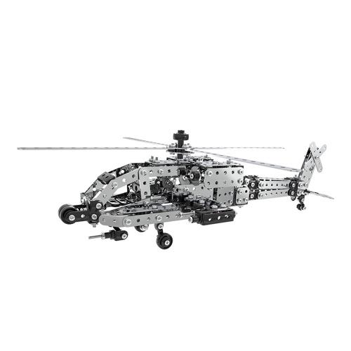 620 قطع اباتشي هليكوبتر ذكي البناء مجموعة 3d المقاوم للصدأ نموذج كيت diy هدية نموذج بناء ألعاب تعليمية