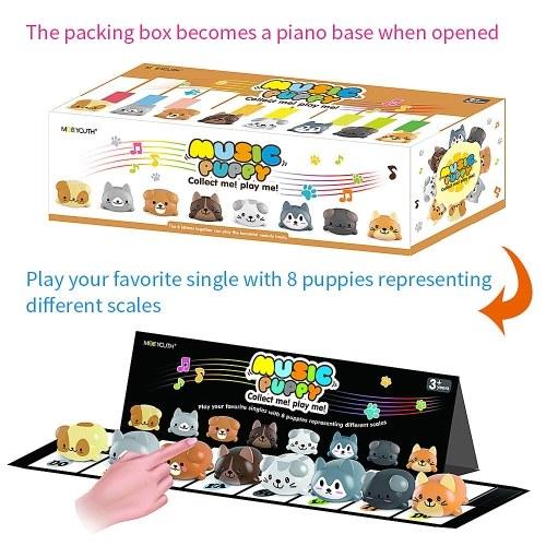 8Pcs/Set Music Puppy Singing Dog Toy