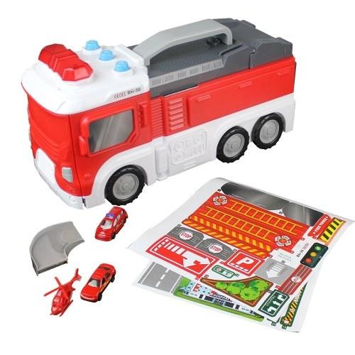 Сборка Fire Truck Многофункциональный DIY Building Car
