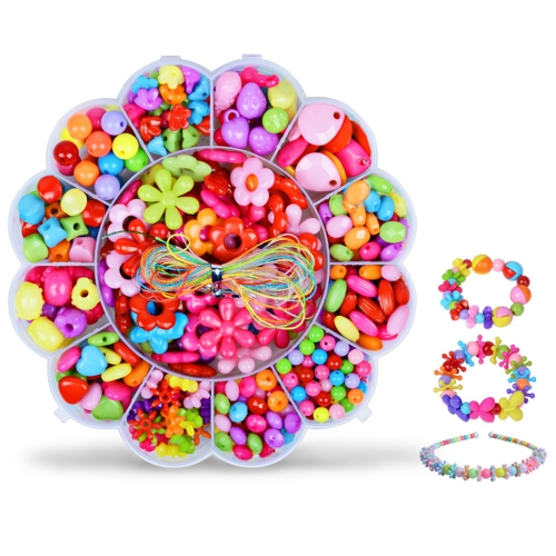 Girl Children Handmade DIY Wearing Beaded Toys for Beads Bracelet Necklace Amblyopia Training about 350 Pcs Style 1Toys &amp; Hobbies<br>Girl Children Handmade DIY Wearing Beaded Toys for Beads Bracelet Necklace Amblyopia Training about 350 Pcs Style 1<br>