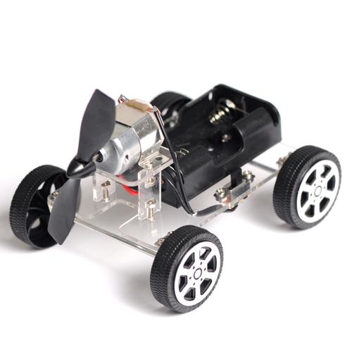 Rompecabezas Mini Bebé Niño Educativo DIY Wind-up Toy Wind Montar Juguetes de Automóviles Robot de Motor Intelectual eólico