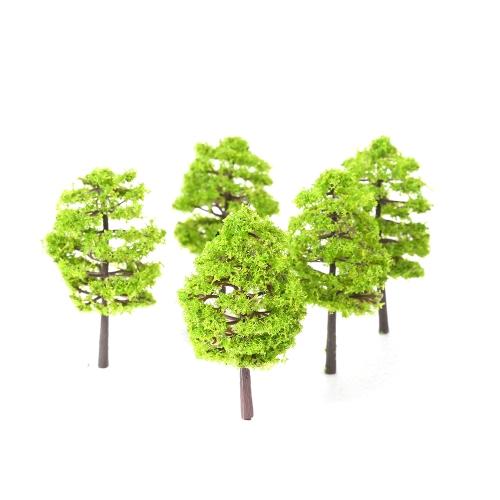 20本のミニチュア風景風景プラスチック木モデルライトガーデンの装飾緑の葉のスタイル1