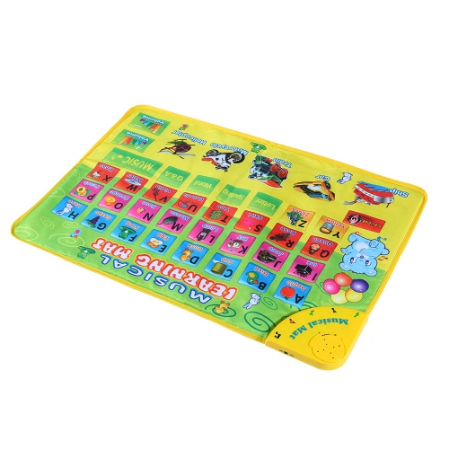 Colorful Musical Learning Mat Alphabet Flash Music Carpet Blanket Children Developing Rug Four Learning Modes with Music Sound EduToys &amp; Hobbies<br>Colorful Musical Learning Mat Alphabet Flash Music Carpet Blanket Children Developing Rug Four Learning Modes with Music Sound Edu<br>