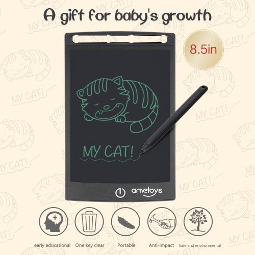 Ametoys 8.5-Inch LCD Writing Tablet Drawing - BlackToys &amp; Hobbies<br>Ametoys 8.5-Inch LCD Writing Tablet Drawing - Black<br>