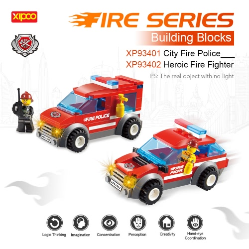 2 Sets XIPOO Fire Series 84pcs XP93401 City Fire Police and 72pcs XP93402 Heroic Fire Fighter Educational Building Blocks ToysToys &amp; Hobbies<br>2 Sets XIPOO Fire Series 84pcs XP93401 City Fire Police and 72pcs XP93402 Heroic Fire Fighter Educational Building Blocks Toys<br>