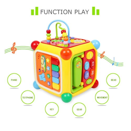 GOODWAY 3838A Intellect Cube Early Educational Toys with Piano Music Telephone Gear Function Baby Kids GiftToys &amp; Hobbies<br>GOODWAY 3838A Intellect Cube Early Educational Toys with Piano Music Telephone Gear Function Baby Kids Gift<br>