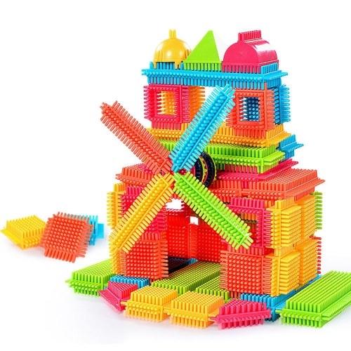 طوب بناء DIY التعليمية لعبة مجموعة طوب