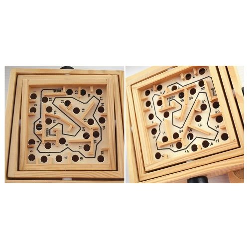 Wooden Labyrinth Puzzle Maze Game Wooden Labyrinth Balance Board Educational Skill Improvement Wood Toys for KidsToys &amp; Hobbies<br>Wooden Labyrinth Puzzle Maze Game Wooden Labyrinth Balance Board Educational Skill Improvement Wood Toys for Kids<br>