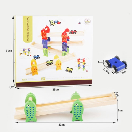 Wooden Fish Glide Car Demountable Slide Car Baby Hands-on Toys Early Educational Toy For ChildrenToys &amp; Hobbies<br>Wooden Fish Glide Car Demountable Slide Car Baby Hands-on Toys Early Educational Toy For Children<br>