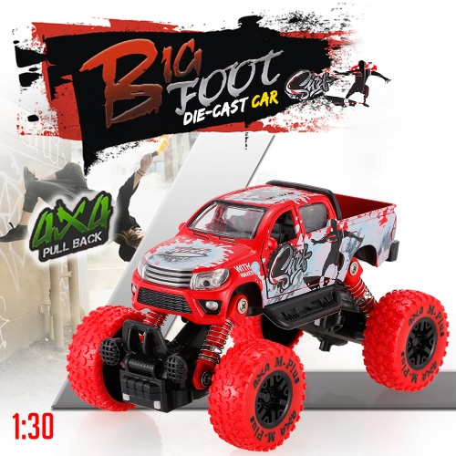 Classic Pull Back Car 1/30 Alloy 4WD Big Wheels Shock Resistant Off Road Climbing Car 2 Doors Open Pull Back Vehicle Toy TruckToys &amp; Hobbies<br>Classic Pull Back Car 1/30 Alloy 4WD Big Wheels Shock Resistant Off Road Climbing Car 2 Doors Open Pull Back Vehicle Toy Truck<br>