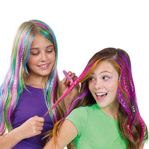 子供のための12個の髪のチョーク一時的な明るい髪の色のチョーク髪の染色パーティーとコスプレ