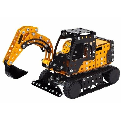 359Pcs追跡された掘削機インテリジェントな建設セット3D金属モデルキットDIYのギフトモデルビルディング教育おもちゃ