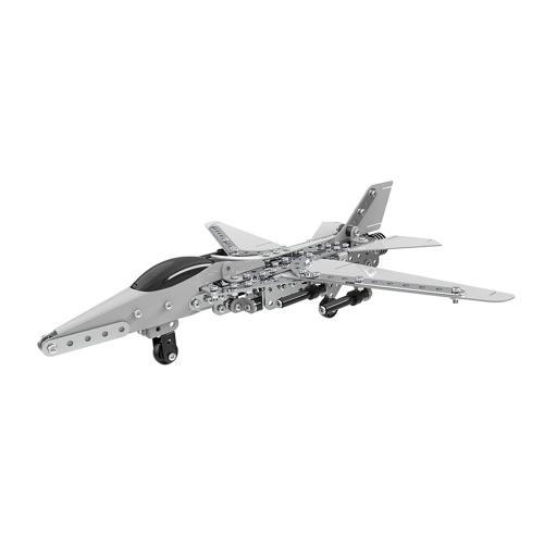 470Pcs爆撃機航空機インテリジェントな建設セット3Dステンレス鋼モデルキットDIYギフトモデル建物教育おもちゃ
