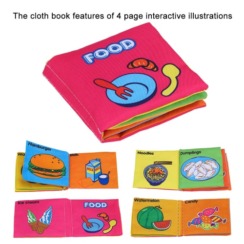 Coolplay Babys First Non-Toxic Fabric Book Washable Soft Cloth Book Infant Toddler Kids Early Education Learning ToyToys &amp; Hobbies<br>Coolplay Babys First Non-Toxic Fabric Book Washable Soft Cloth Book Infant Toddler Kids Early Education Learning Toy<br>