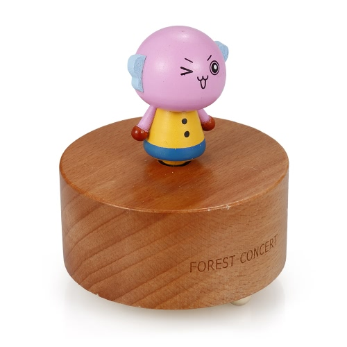 Wooden Beech Music Box Cute Animal Shape and Beautiful Music Cartoon Image Music Box Educational Toy for KidsToys &amp; Hobbies<br>Wooden Beech Music Box Cute Animal Shape and Beautiful Music Cartoon Image Music Box Educational Toy for Kids<br>