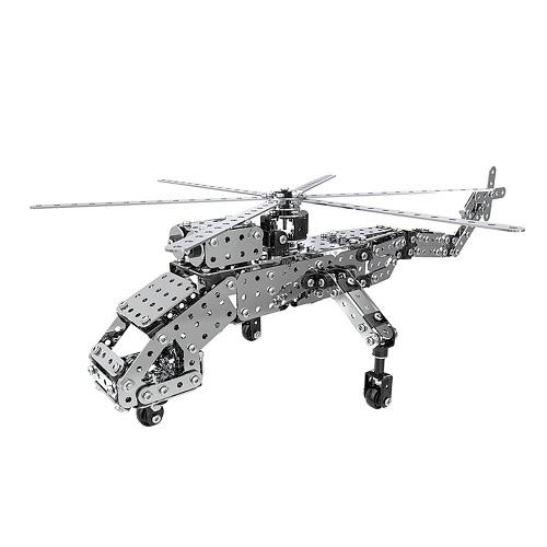 660 قطع الثقيلة رفع هليكوبتر ذكي البناء مجموعة 3d المقاوم للصدأ نموذج كيت diy هدية نموذج بناء ألعاب تعليمية