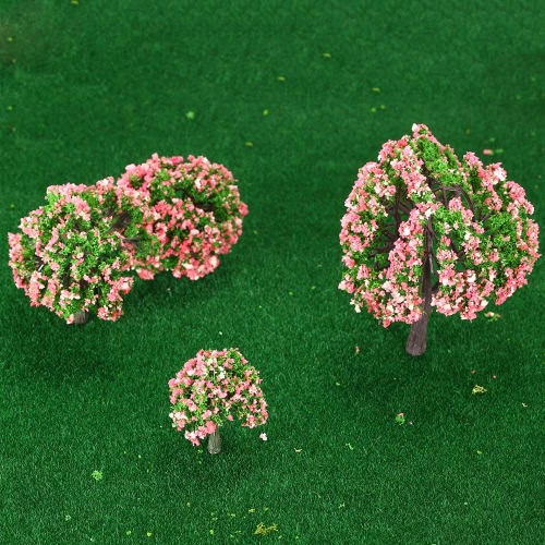 4 Pieces Plastic Model Trees Train Layout Garden Scenery White and Pink Flower Trees Diorama Miniature PeachToys &amp; Hobbies<br>4 Pieces Plastic Model Trees Train Layout Garden Scenery White and Pink Flower Trees Diorama Miniature Peach<br>
