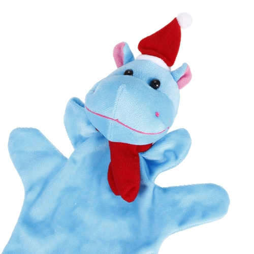 Animal Hand Puppet Cute Cartoon Christmas Hippo Plush Toys Hand Plush Doll Child Christmas Gift ToysToys &amp; Hobbies<br>Animal Hand Puppet Cute Cartoon Christmas Hippo Plush Toys Hand Plush Doll Child Christmas Gift Toys<br>