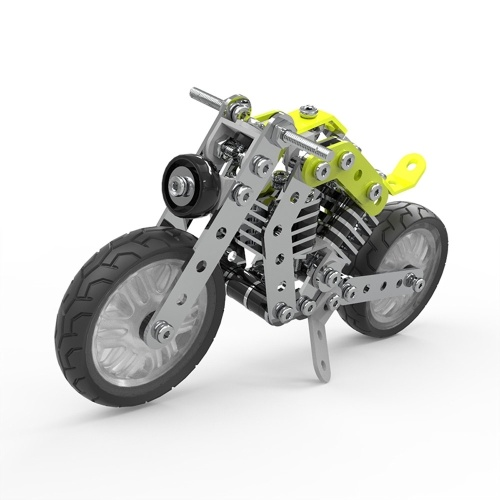 158Pcsミリタリーバイクインテリジェント構築セット3DステンレススチールモデルキットDIYギフトモデル建物教育おもちゃ