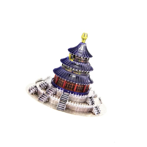 3D Puzzles Eiffel Tower Silver 3D Metal Model DIY Gift Model Building Jigsaw Educational Toys