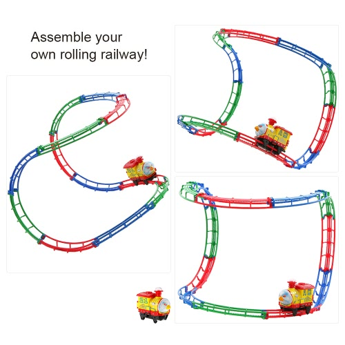 SHU YE 661H-8 37PCS Twister Tracks Flexible Assembly Track Car Train Locomotive for KidsToys &amp; Hobbies<br>SHU YE 661H-8 37PCS Twister Tracks Flexible Assembly Track Car Train Locomotive for Kids<br>