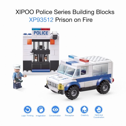 XIPOO Police Series 188pcs XP93512 Outlaw Building Blocks Educational ToysToys &amp; Hobbies<br>XIPOO Police Series 188pcs XP93512 Outlaw Building Blocks Educational Toys<br>