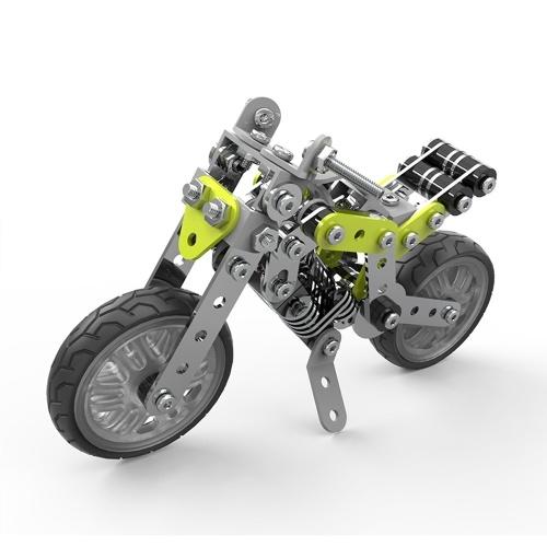 188 قطع الشارع دراجة نارية ذكي البناء مجموعة 3d المقاوم للصدأ نموذج كيت diy هدية نموذج بناء ألعاب تعليمية
