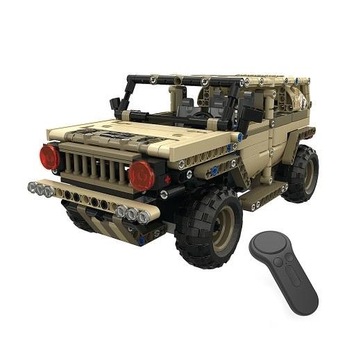 2.4G дистанционного управления военный автомобиль DIY строительный кирпич автомобилей игрушка