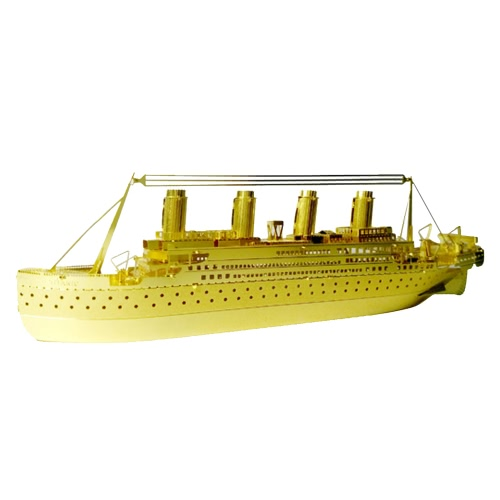 3D Puzzles Titanic Golden - 3D Metal Model Kit - DIY Model Animal Educational ToysToys &amp; Hobbies<br>3D Puzzles Titanic Golden - 3D Metal Model Kit - DIY Model Animal Educational Toys<br>