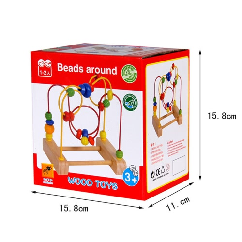 Mini Wooden Around Beads Wooden Bead Maze Baby Intellectual and Brain Development Early Educational Toys for kidsToys &amp; Hobbies<br>Mini Wooden Around Beads Wooden Bead Maze Baby Intellectual and Brain Development Early Educational Toys for kids<br>
