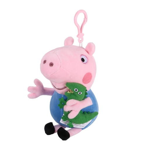 Original Brand Peppa Pig 19cm Brother George Bag Pendant Keychain Stuffed Plush Toy Family Party Christmas New Year Gift for KidsToys &amp; Hobbies<br>Original Brand Peppa Pig 19cm Brother George Bag Pendant Keychain Stuffed Plush Toy Family Party Christmas New Year Gift for Kids<br>